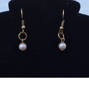 Jewelry - 🔵 Dangle Earrings Fashion Gold Tone Pearl Bead